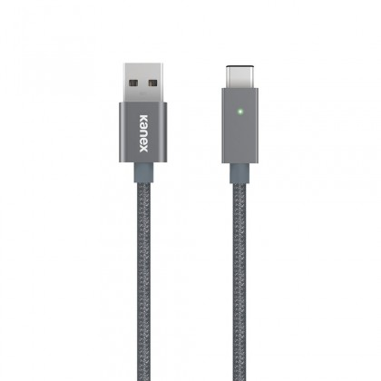 Kanex USB-C to USB-A LED Charge Cable 1.2m Space Gray