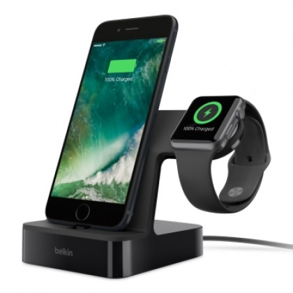 Belkin VALET Charge dock for iPhone & Apple watch-Black