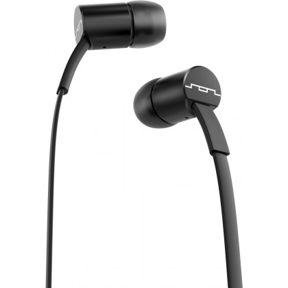SOL JAX In-Ear Headphones with 1-Button Mic and Music Control - Black