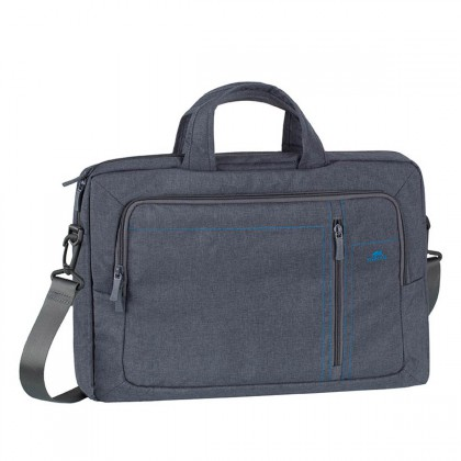 "RivaCase - 7530 Laptop Canvas shoulder bag 15.6"" / 6 - Grey"