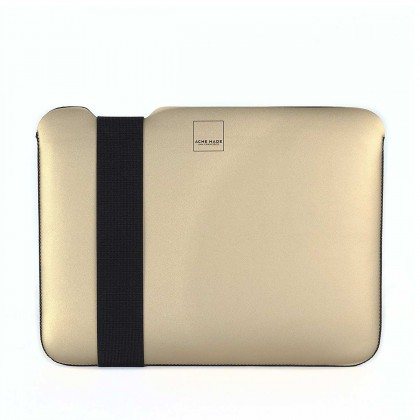 "Acme Made - Skinny Sleeve XXS StretchShell for MacBook 12"" - Gold/Black"
