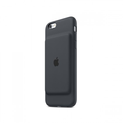 Apple - iPhone 6/6s Smart Battery Case - Charcoal Gray