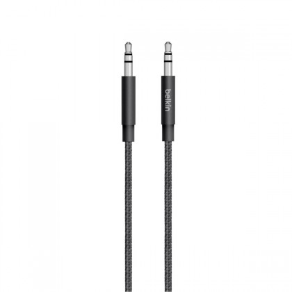 Belkin - MIXIT Metallic AUX Cable - Black