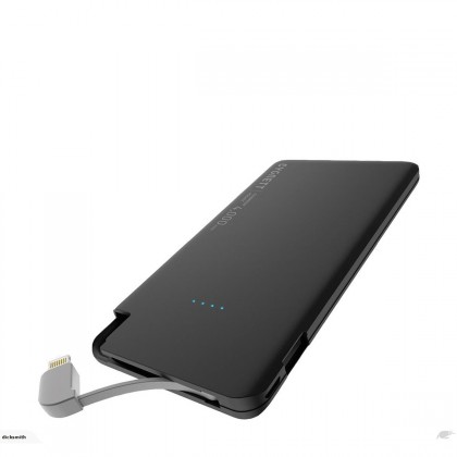 Cygnett - 4,000mAh Portable Power Bank with Integrated Lightning Cable