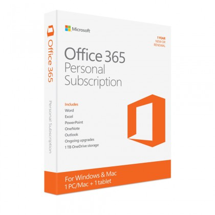 Office 365 Personal 32/64 English Subscr 1YR Middle East DM Medialess