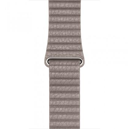 42mm Smoke Grey Leather Loop - Large