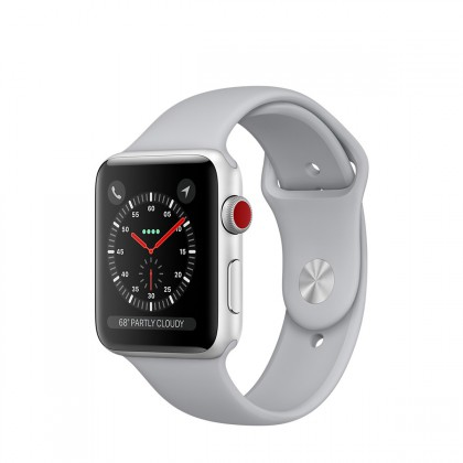 Apple Watch Series 3 GPS + Cellular Silver Aluminium Case with Fog Sport Band