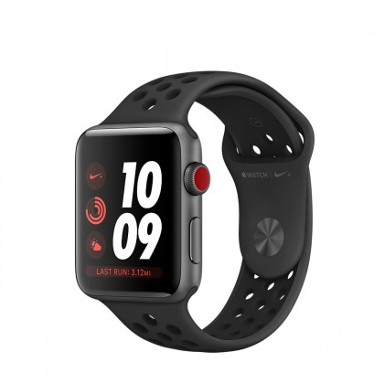 Apple Watch Nike+ GPS + Cellular, 42mm Space Grey Aluminium Case with Anthracite/Black Nike Sport Band