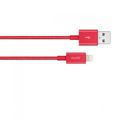 Moshi Integra Usb-A Charge / Sync Cable With Lightning Connector - Crimson Red