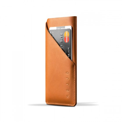 Mujjo - Leather Wallet iPhone 6 bőr belecsúsztatós tok