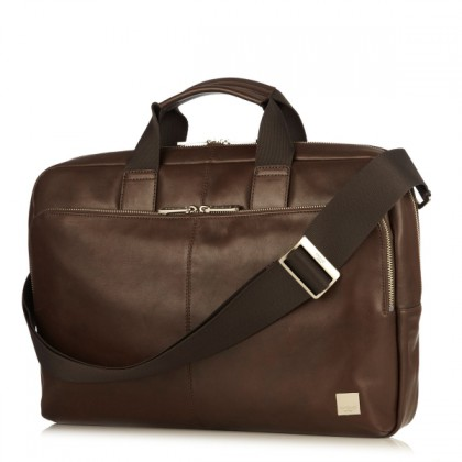 Knomo Brompton Classic Newbury Single Zip Leather Briefcase 15inch