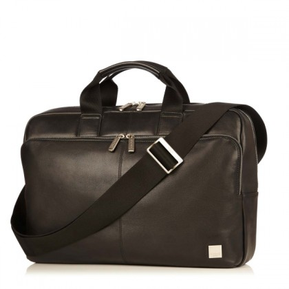 Knomo Newbury Single Zip Leather Briefcase 15inch