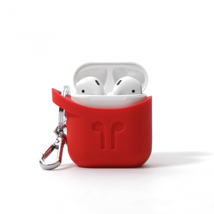 PodPocket- Silicone Case for Apple Airpods - Blazing Red
