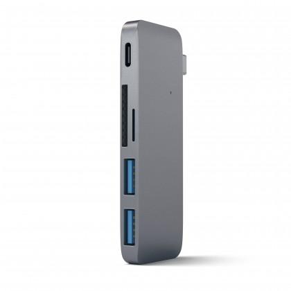 Type-C USB Passthrough Hub-Space Gray