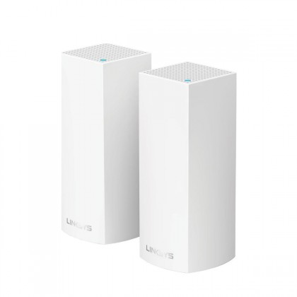Linksys Velop Intelligent Mesh WiFi System, Tri-Band, 2-Pack - White
