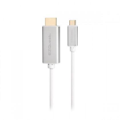 EZQuest USB-C/Thunderbolt 3 to HDMI 4K 60 Hz Cable - 2 m - White