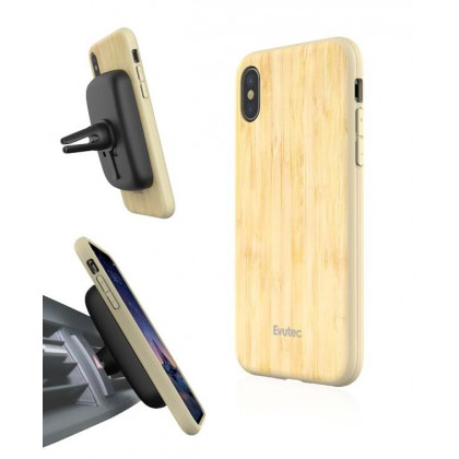 EVUTEC AER WOOD WITH AFIX FOR IPHONE X BAMBOO