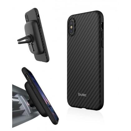 EVUTEC AER KARBON WITH AFIX FOR IPHONE X BLACK