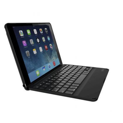 Zagg iPad Air 2 Non Backlit Folio Case With Uk Keyboard - Black
