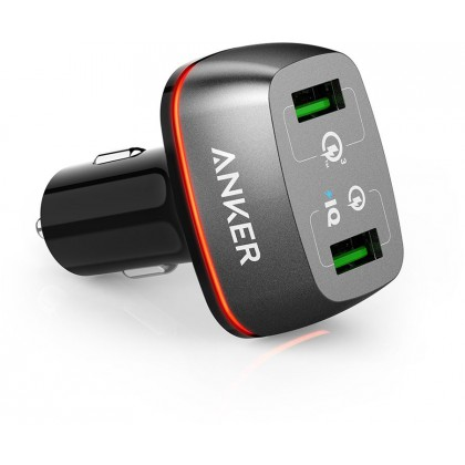 Anker PowerDrive + 2 Quick Charge 2.0 36W Dual USB Car Charge  for iPhone / iPad Pro / Air 2 / mini