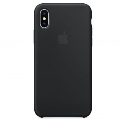 iPhone X Silicone Case - Black