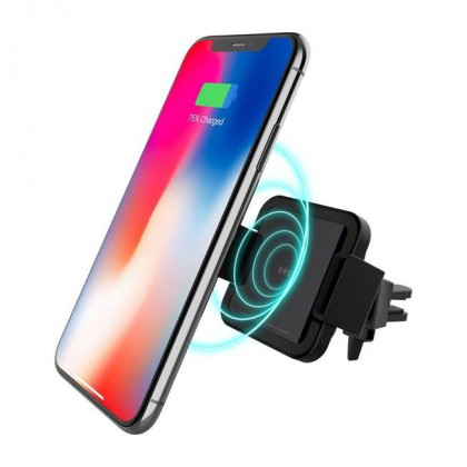 PATCHWORKS Wireless Charging Car Mount Phone Holder - Qi Wireless- Fast ChargeR- Car Air Vent Moun