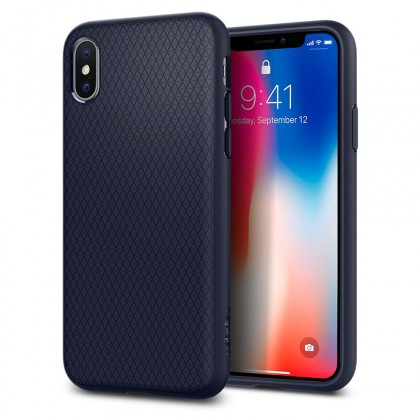Spigen iPhone X Liquid Air Midnight Blue 057CS22124