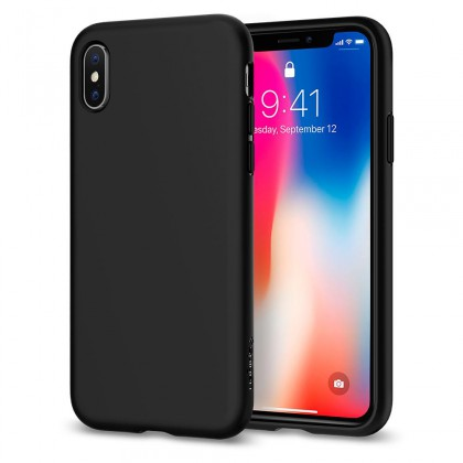Spigen iPhone X Liquid Crystal Matte Black 057CS22119