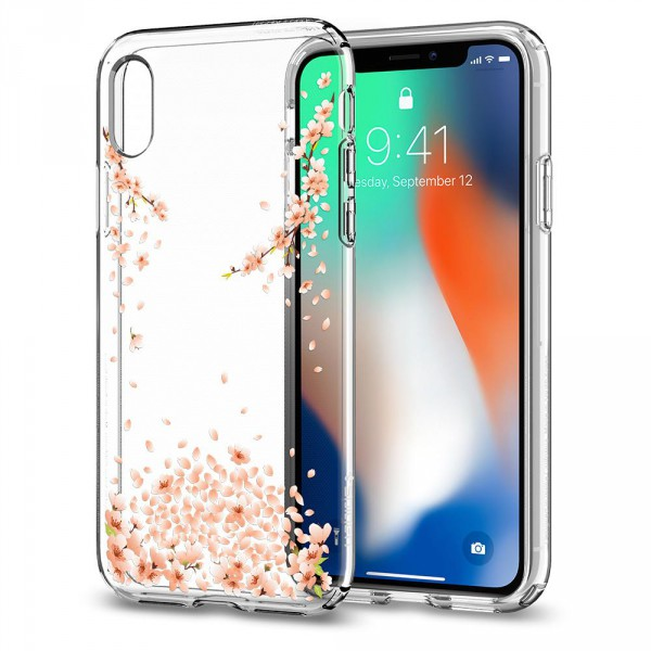 separation shoes 72ca3 b15ad Spigen iPhone X Liquid Crystal Blossom Crystal Clear 057CS22121 ...
