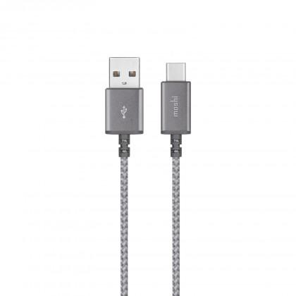 "Moshi Integraâ""¢ USB-C to USB-A Charge/Sync Cable - Titanium Gray"