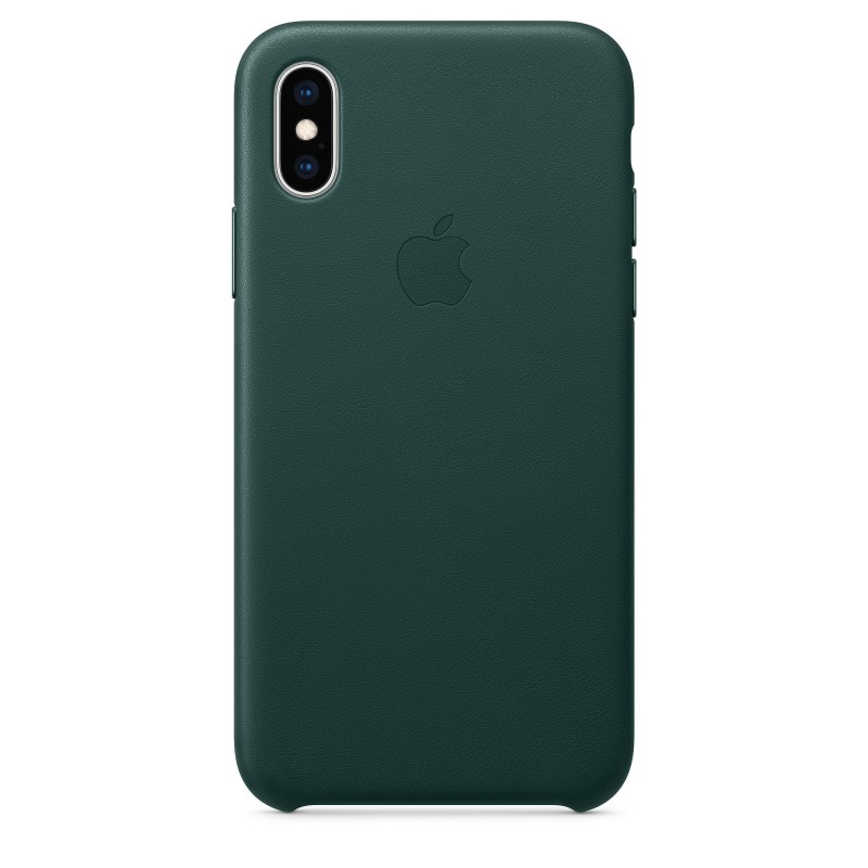 iPhone XS Leather Case - Forest Green