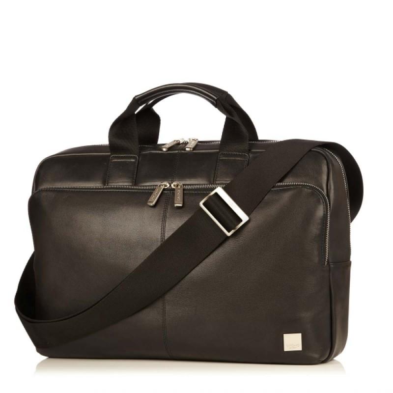 Knomo Newbury Single Zip Leather Briefcase 15inch