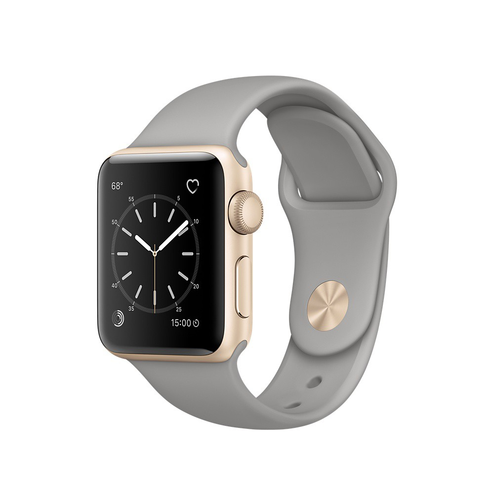 apple watch series 1 42mm silver aluminium case with white sport