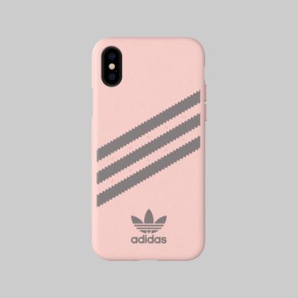 Adidas - iPhone XS - 3 Stripes Case - Gazelle Pink