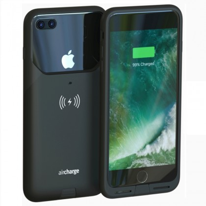 AIR0338 AIRCHARGE iPHONE 7+ CASE BLACK W