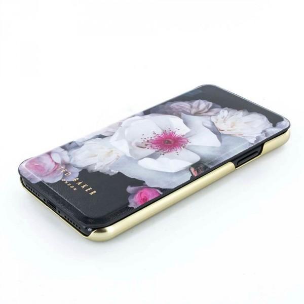 bcafc29e7 ... Proporta Ted Baker Iphone X Mirror Folio Case Malibai - Chelsea Black  ...