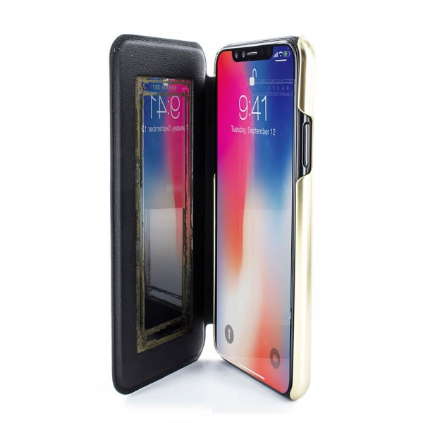 796029423d1ca0 ... Proporta Ted Baker Iphone X Mirror Folio Case Malibai - Chelsea Black  ...
