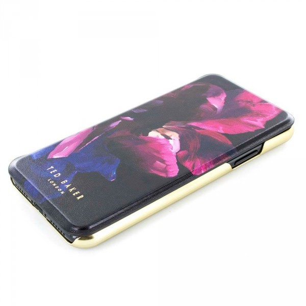 e85bb34ca8623b ... Proporta Ted Baker Iphone X Mirror Folio Case Helen - Impressionist  Bloom